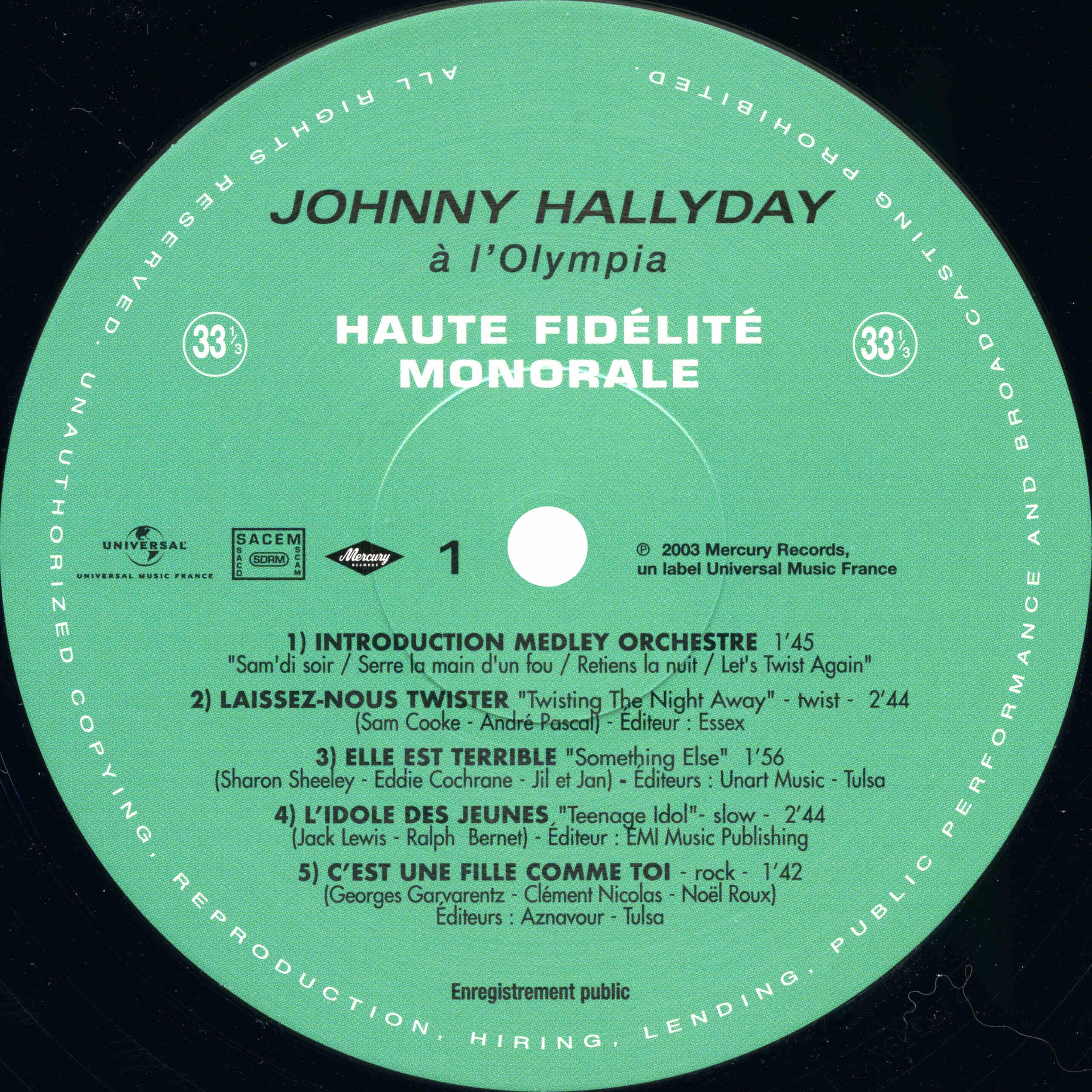 N° 39 Johnny à l'Olympia 2021-085