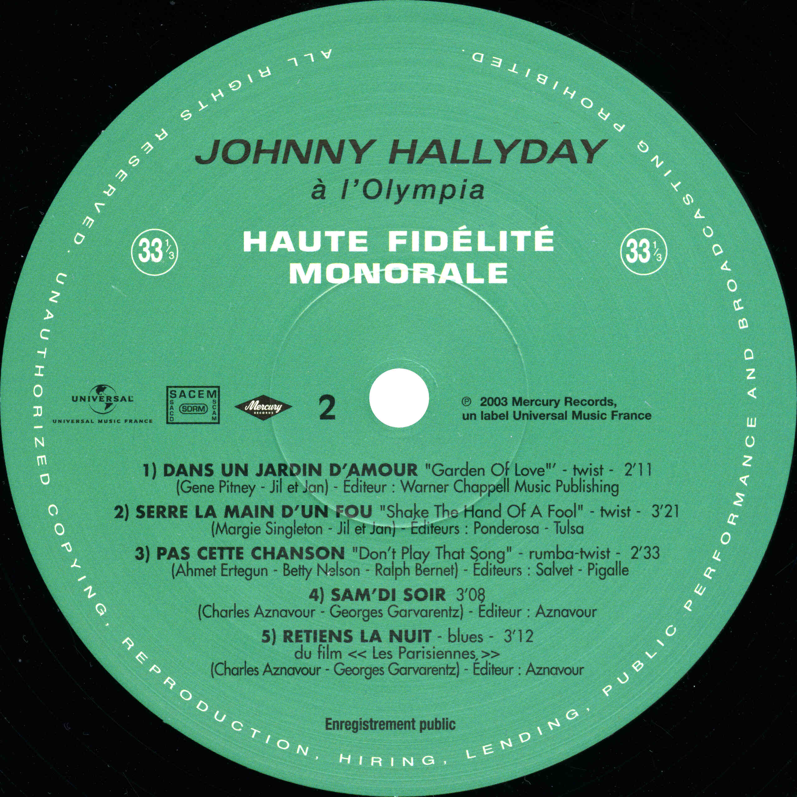 N° 39 Johnny à l'Olympia Johnny58