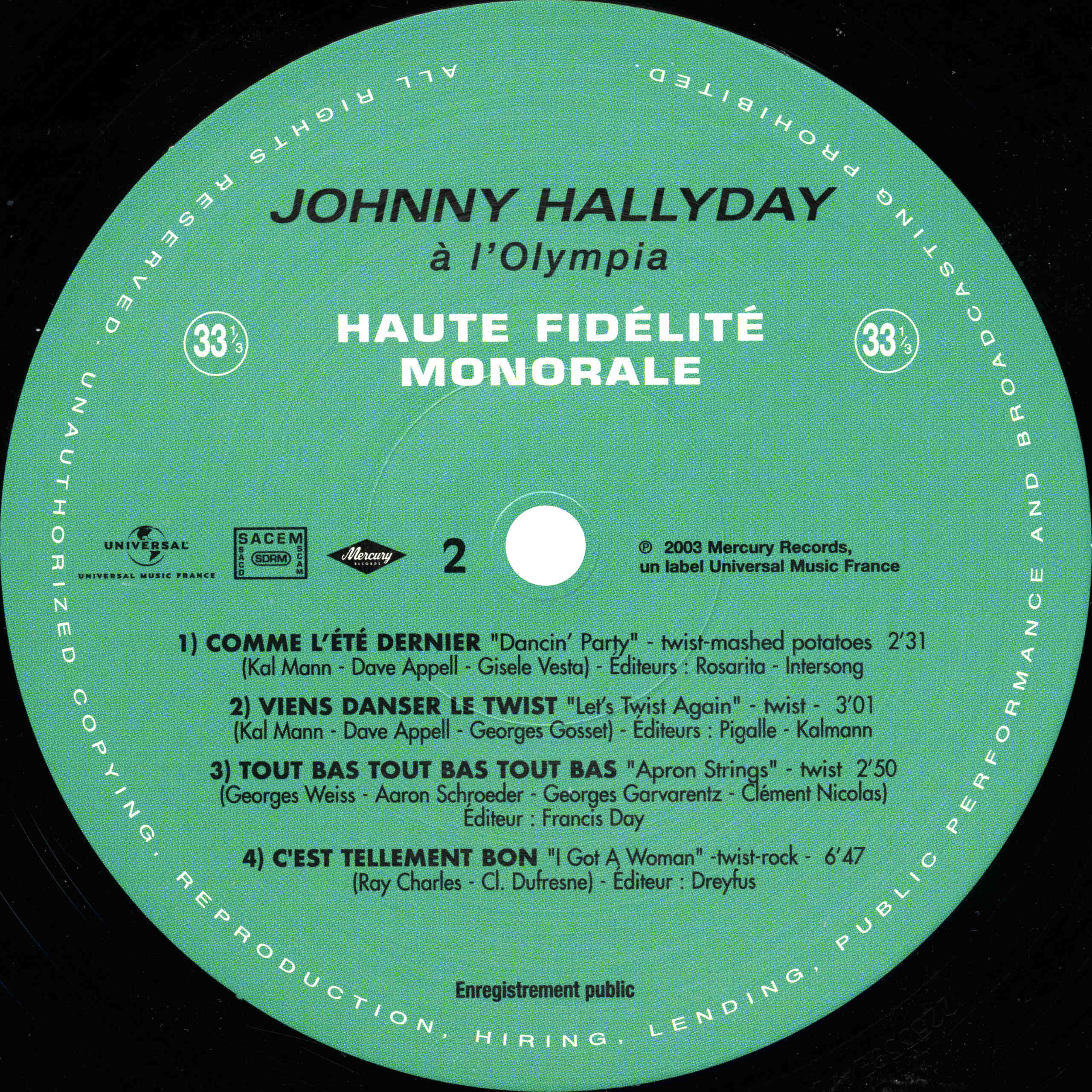 N° 39 Johnny à l'Olympia Johnny59