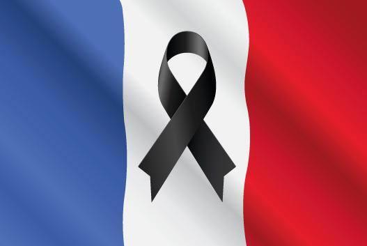 «Nous prions pour la France» : le monde entier porte le deuil . Drapea11