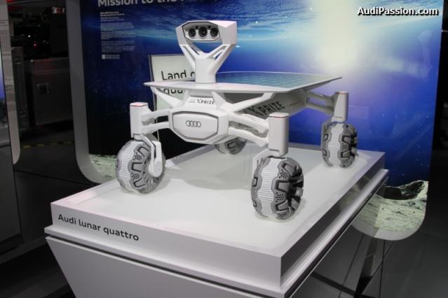 NAIAS 2016 - Salon Automobile de Détroit / Audi Lunar rover et Gene Cernan / Google Lunar XPrize Audi_l16