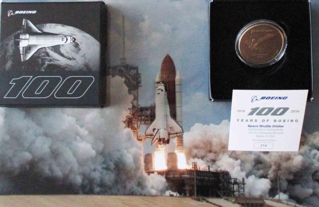 Médaille Navette Spatiale par Boeing pour son 100ème anniversaire 1916-2016 Img_4910