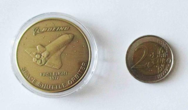 Médaille Navette Spatiale par Boeing pour son 100ème anniversaire 1916-2016 Img_4911