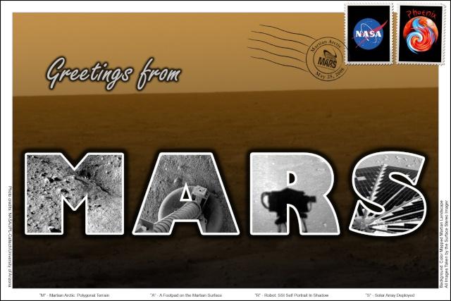 Prix d'une lettre pour Mars / par la Poste Britannique Poster10