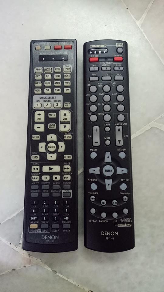 Denon RC-1046 remote control & Denon RC-1148 remote control  41101910