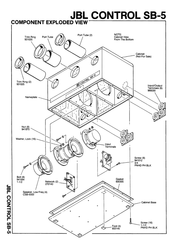 JBL SUB Control SB-5 SUBWOOFER 46444510