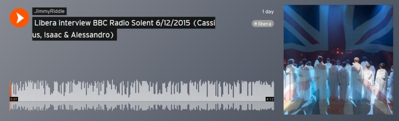 Libera interview BBC Radio Solent 6/12/2015 (Cassius, Isaac & Alessandro)  Interv10