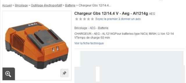 Amélioration d'une perceuse sans fil AEG Charge10