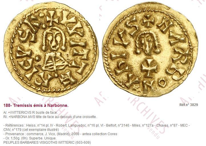 Avis monnaie Wisigoth Mwsnap16