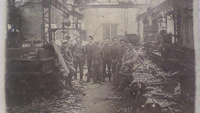 bombardement usine AVOT le 1er Septembre 1944 Atelie11