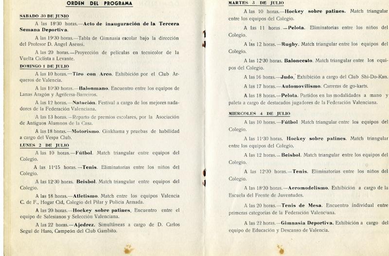 III Semana deportiva del 30 de Junio al 7 de Julio 1962 Instal11