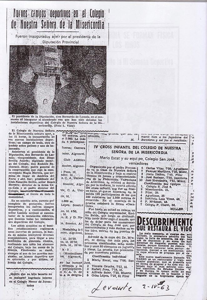 Recortes de Prensa de José Tébar de las semanas deportivas Levant10