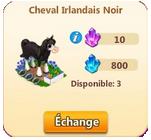 Cheval Irlandais Noir / Cheval Irlandais => Fer à Cheval Sans_427