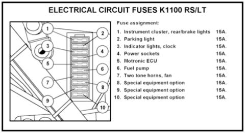 96 K1100 Fuel pump   Bmw K1100lt Fuse Box      K100-forum.com