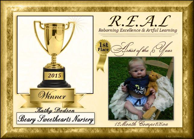 2015 Artist of the Year --Winner Logo - BearySweetHearts!!  Winner10