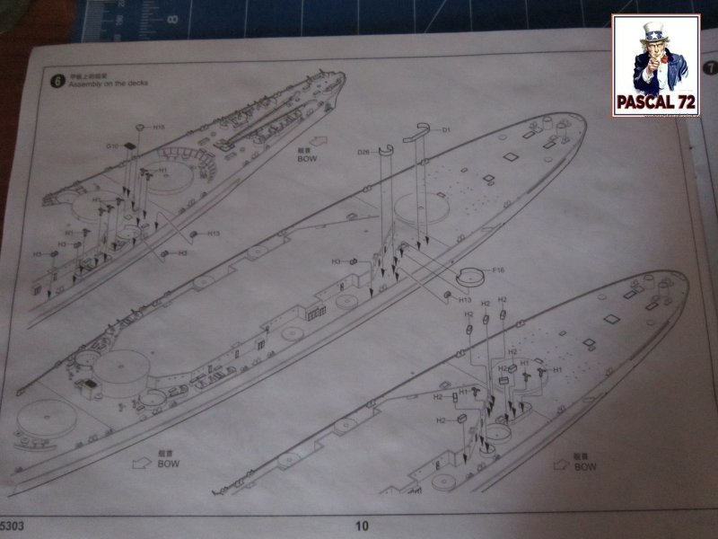 Cuirassé USS BB-55 North Carolina au 1/350 de Trumpeter par pascal 72 Img_5640