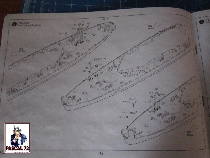 Cuirassé USS BB-55 North Carolina au 1/350 de Trumpeter par pascal 72 Img_5642