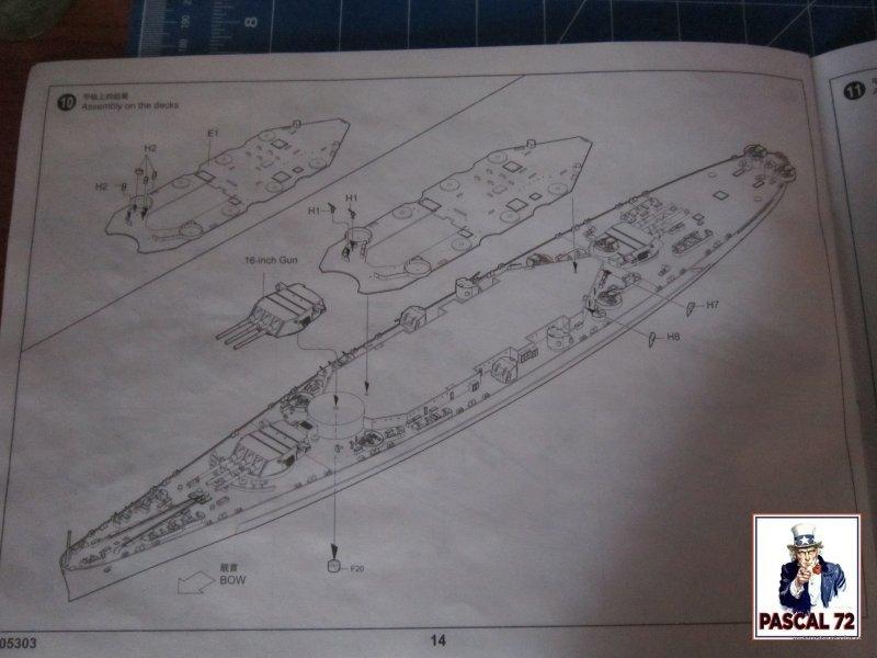 Cuirassé USS BB-55 North Carolina au 1/350 de Trumpeter par pascal 72 Img_5644