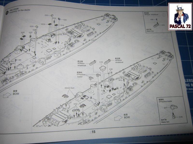 Cuirassé USS BB-55 North Carolina au 1/350 de Trumpeter par pascal 72 Img_5645