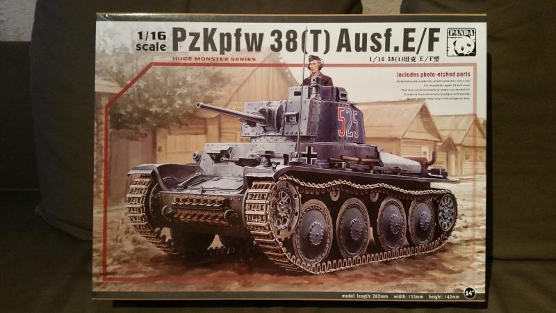 Panzer 38(T) Ausf.E/F - 1/16 - PANDA HOBBY. mise en boue  20151212