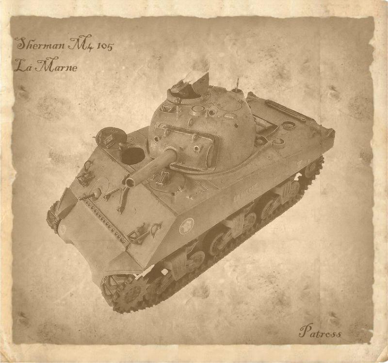 """Sherman M4 105mm """" La Marne """" ( Tamiya et conversion ? au 1/35eme ) - Page 2 Pat71010"""
