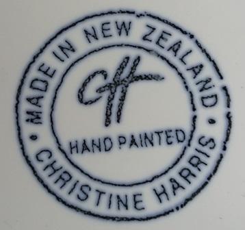 For gallery Christine Harris Majolica Blue vase Christ11