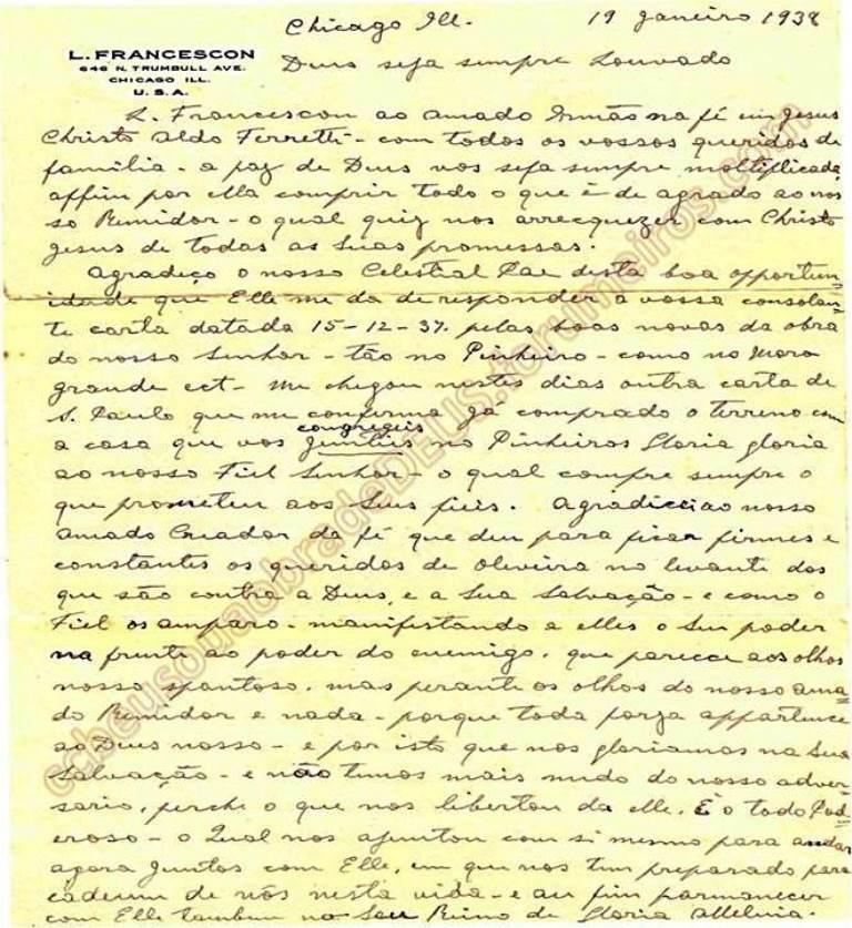 ao irmão Aldo Ferrete, 19 de Janeiro de 1938 Carta_66