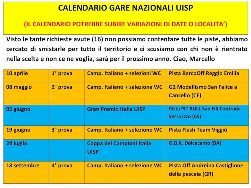 Calendario gare Nazionali UISP Calend11