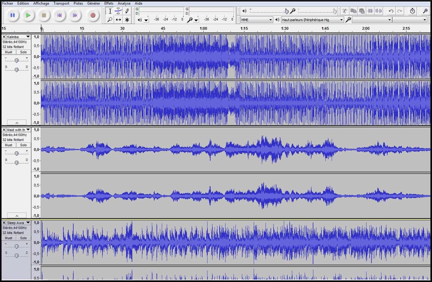 [Apprenti] (Audacity) Entendre les autres pistes pendant un enregistrement 1_ente10