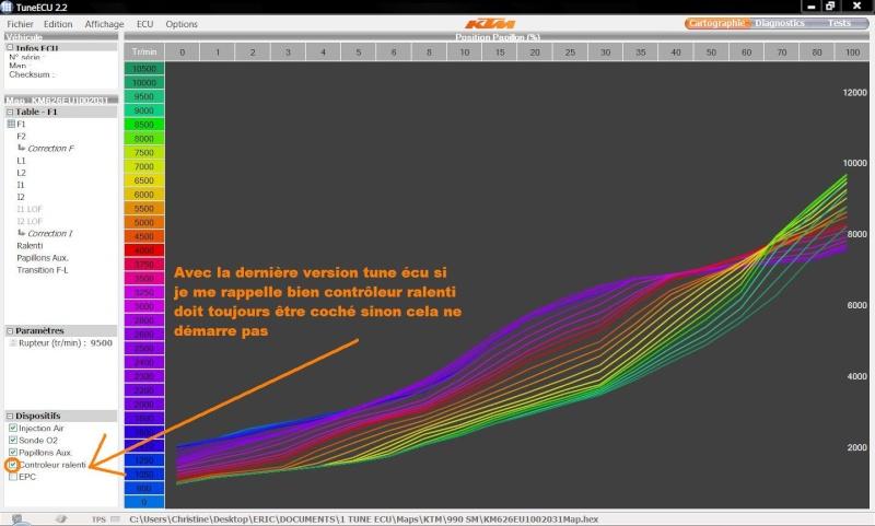 Problème injection de nouvelle map Ecu10