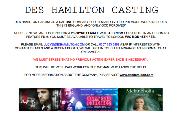 AUDITIONS TO TAKE PLACE FOR NEW CAST MEMBER 1110