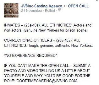 NEW CASTING CALLS FOR 'GOOD TIME' 12a11