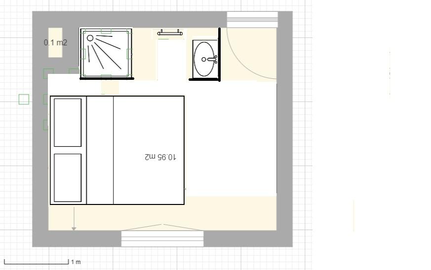 Aménager une salle d'eau dans une petite chambre Hyperb10