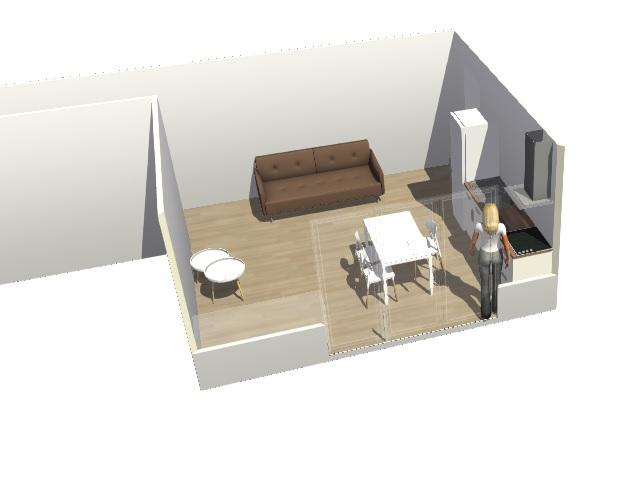 Conseils aménagement petit salon avec salon cuisine américaine Hyperb11