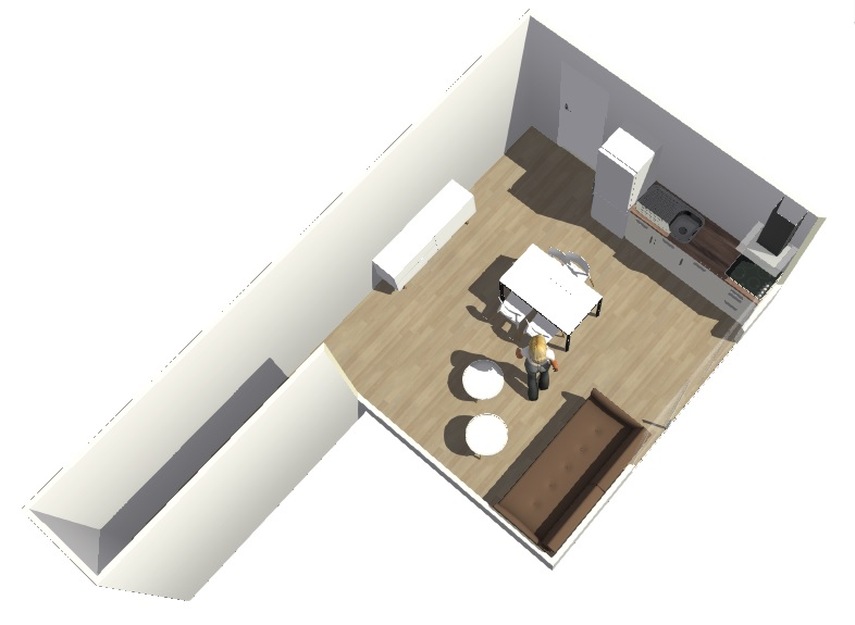 Conseils aménagement petit salon avec salon cuisine américaine Hyperb12