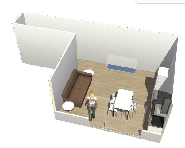 Conseils aménagement petit salon avec salon cuisine américaine Hyperb13