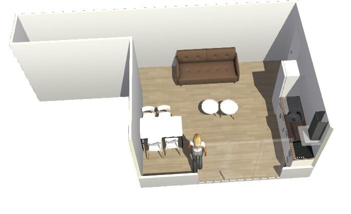 Conseils aménagement petit salon avec salon cuisine américaine Hyperb14