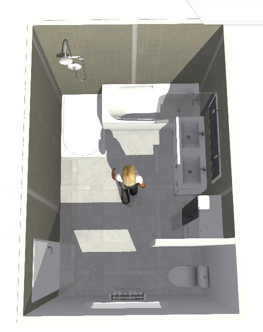 Création d'une salle de bains. Madame13