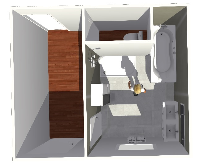 Création d'une salle de bains. Madame14