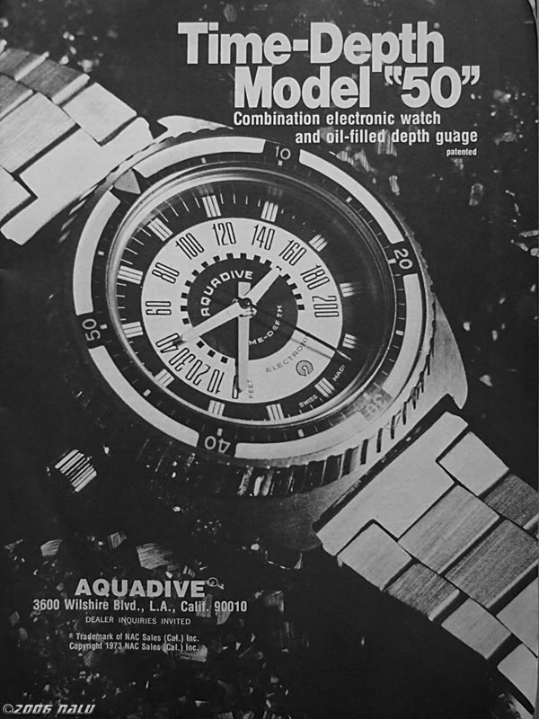 AQUADIVE DEPHT GAUGE Model 50 /  version 4.1 1976-1979 Image28