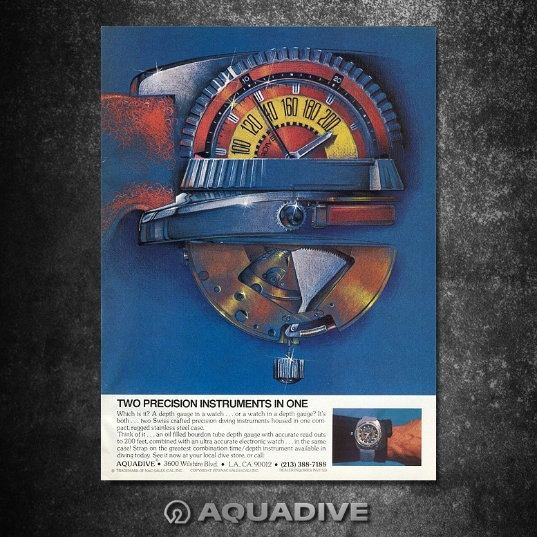 AQUADIVE DEPHT GAUGE Model 50 /  version 4.1 1976-1979 Image32