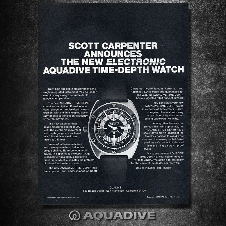 AQUADIVE DEPHT GAUGE Model 50 /  version 4.1 1976-1979 Image33