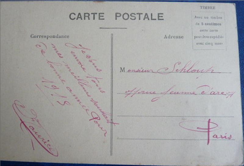 BONNE ANNEE 1915 carte couleur  468_10