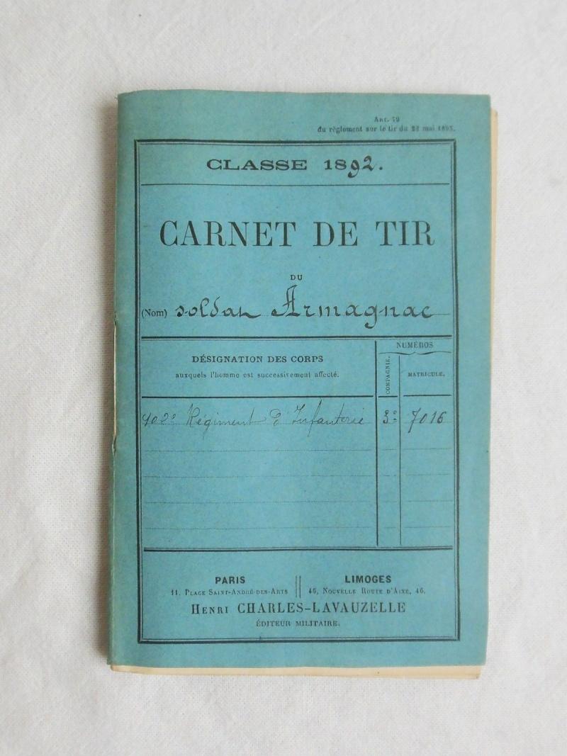 Carnet de tir du soldat Armagnac Carnet10