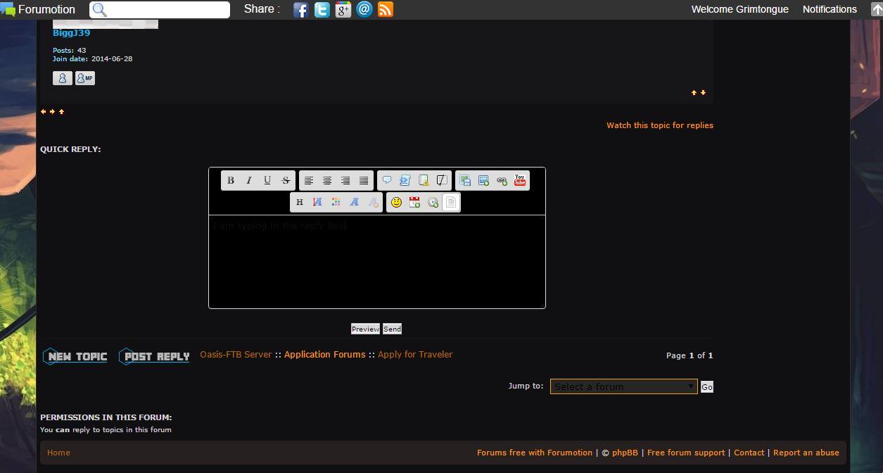 The forum text editor still has black text on a black background! Black_10