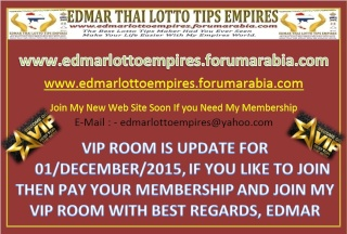 VIP ROOM IS UPDATE FOR 01/DECEMBER/2015 Facebo12