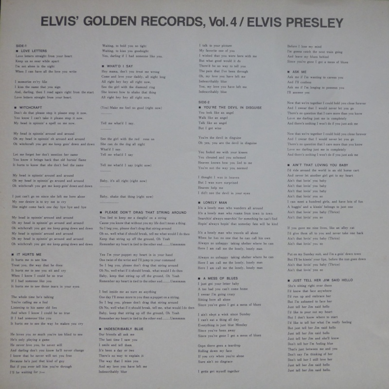 Elvis' Gold Records Volume 4 1h10