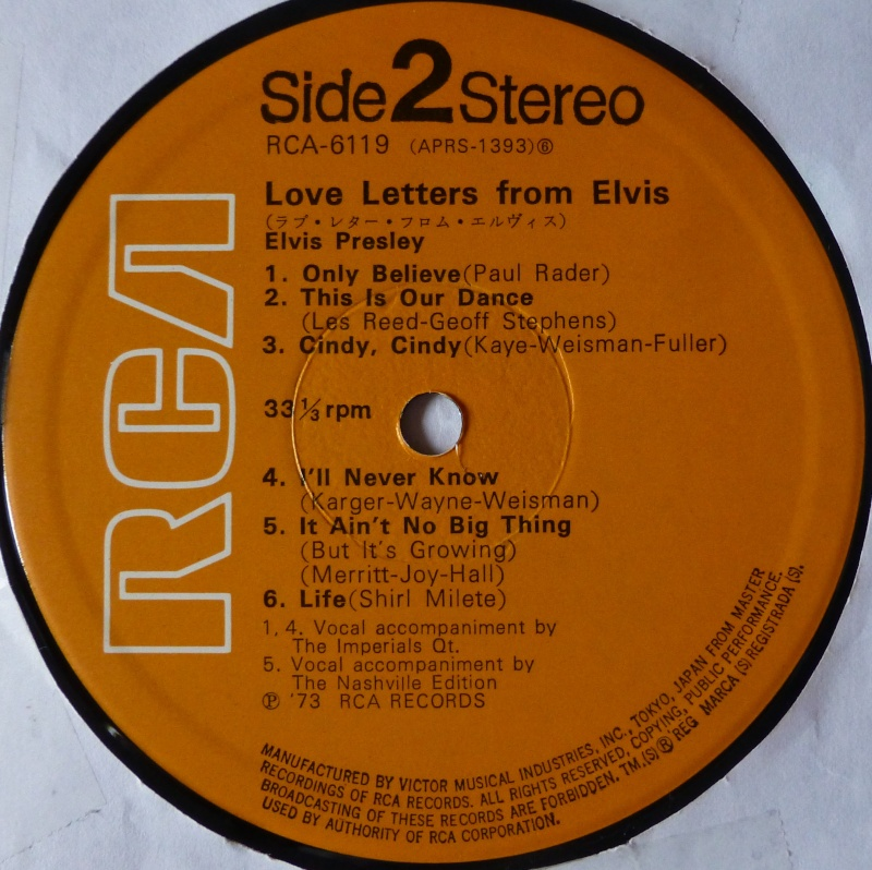 LOVE LETTERS FROM ELVIS 3f10