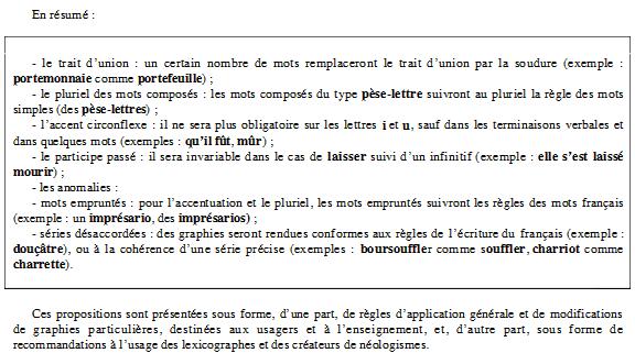 Réforme de l'orthographe française Temp11