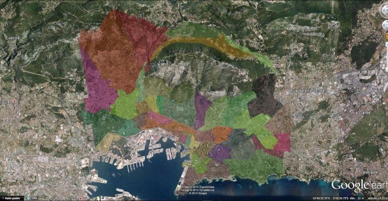 Overlay des Quartier de Toulon 210